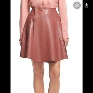 Robert Rodriguez Faux Leather Wrap Skirt